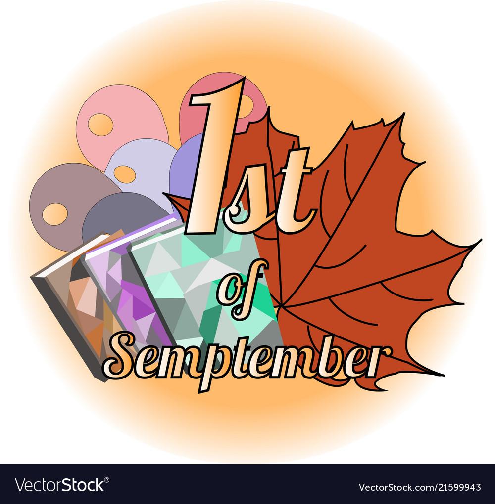 Logo 1st september with maple leaves
