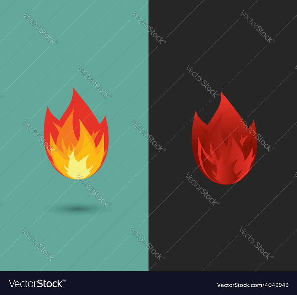 Logo Fire flame icon set in format