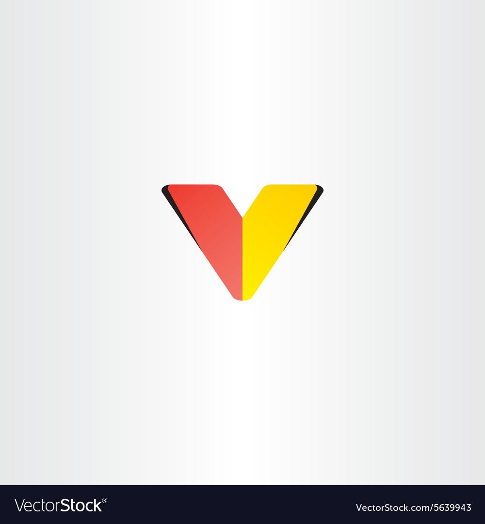 Logo letter v red yellow symbol