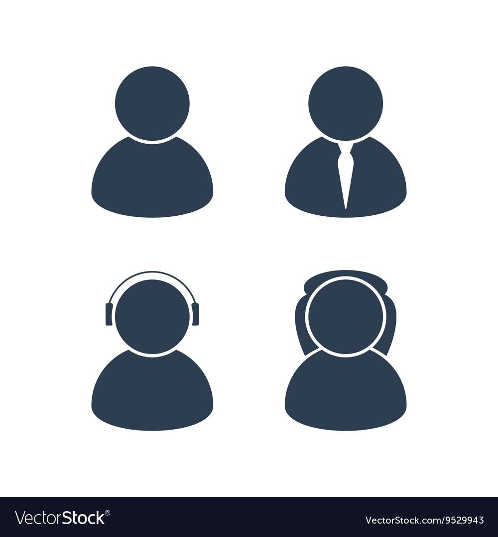 Men and women avatars