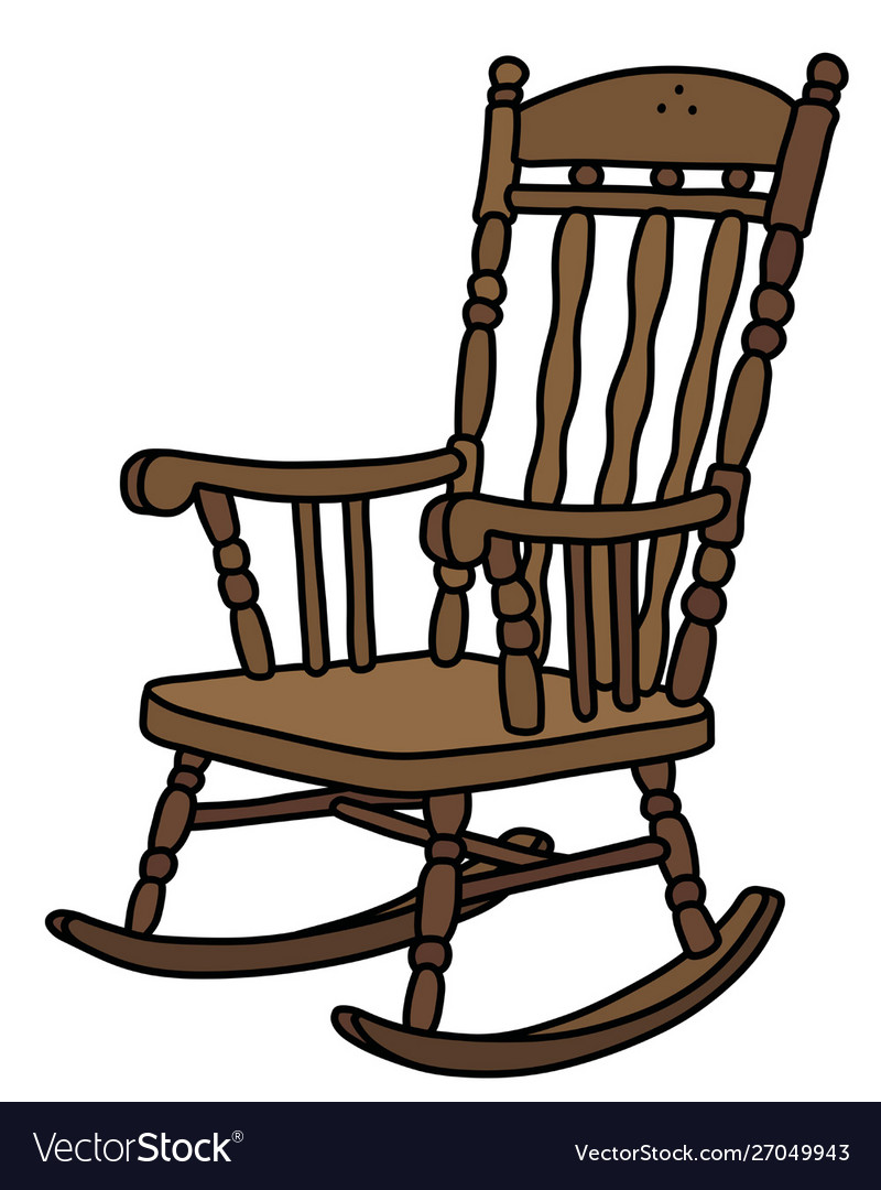 Old Wooden Rocking Chair Royalty Free