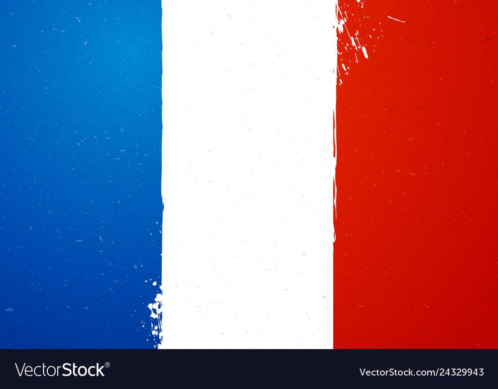 Vintage grunge texture flag of france