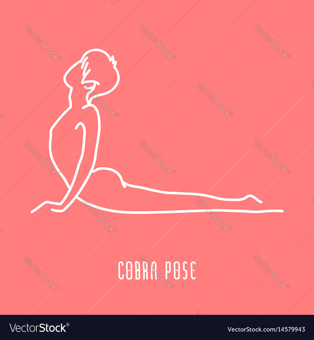 Yoga pose linear icon vector image