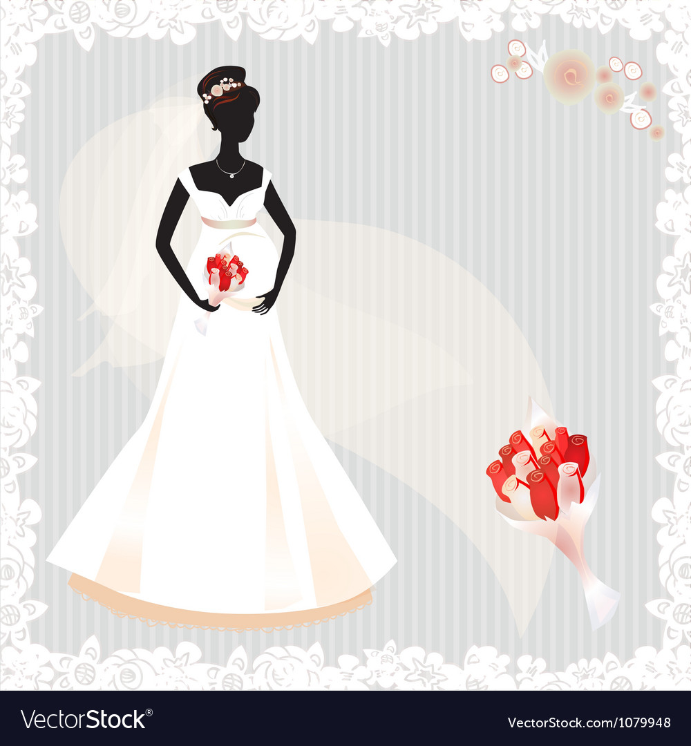 Beautiful pregnant bride silhouette