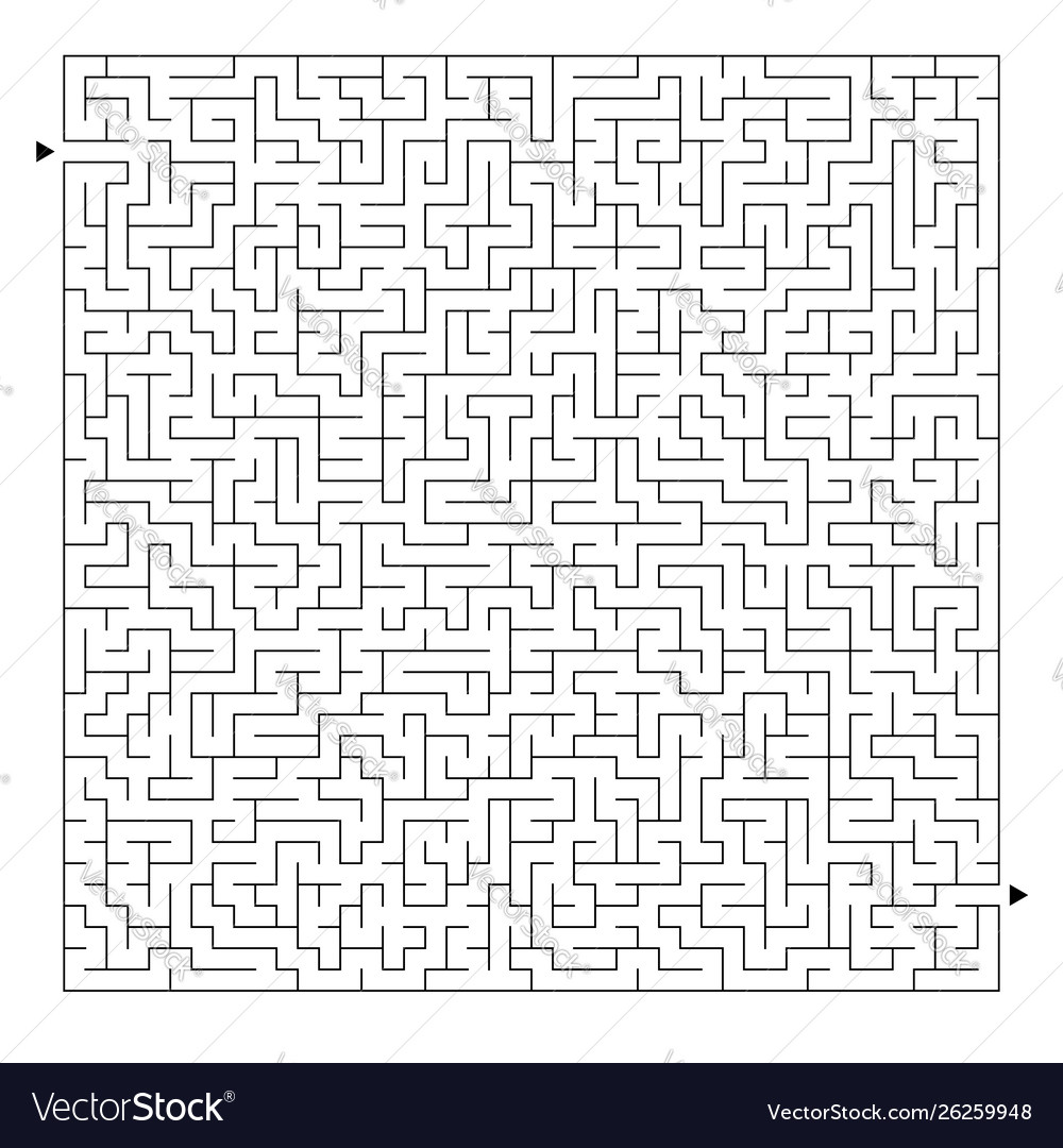 Difficult square maze game for kids and adults