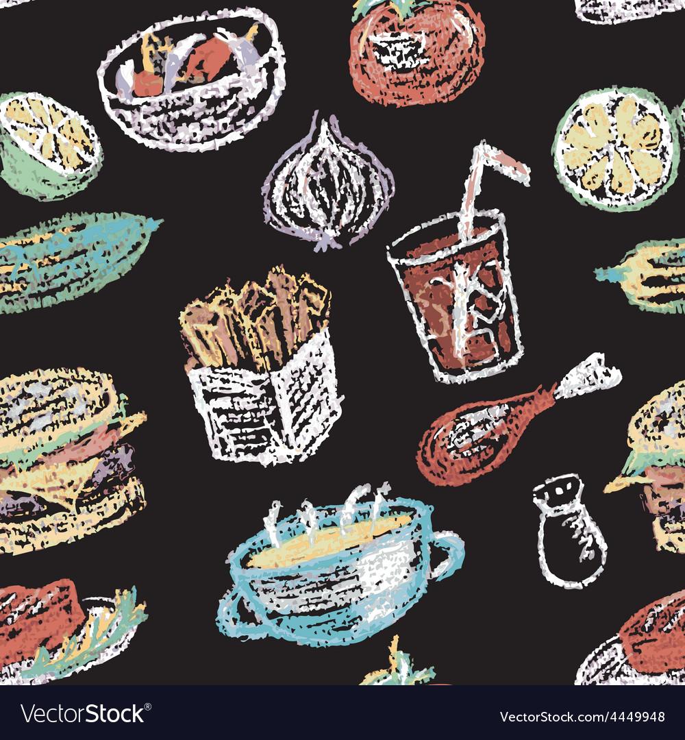 Hand drawn restaurant menu elements