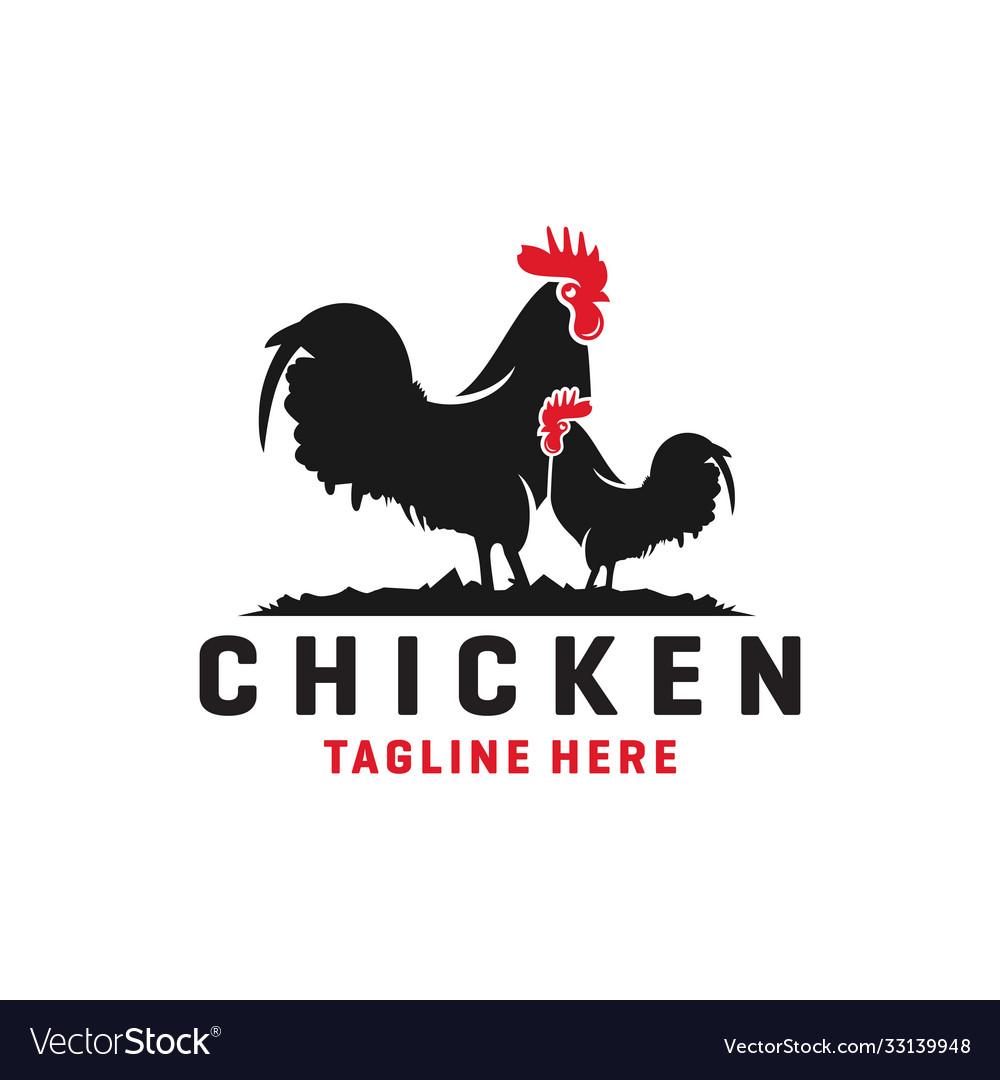 Modern chicken livestock logo
