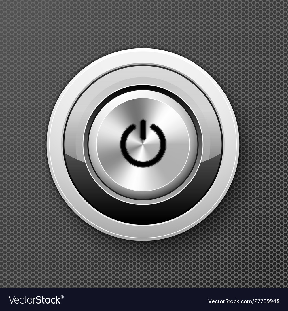 Power off-on button icon - launch push button