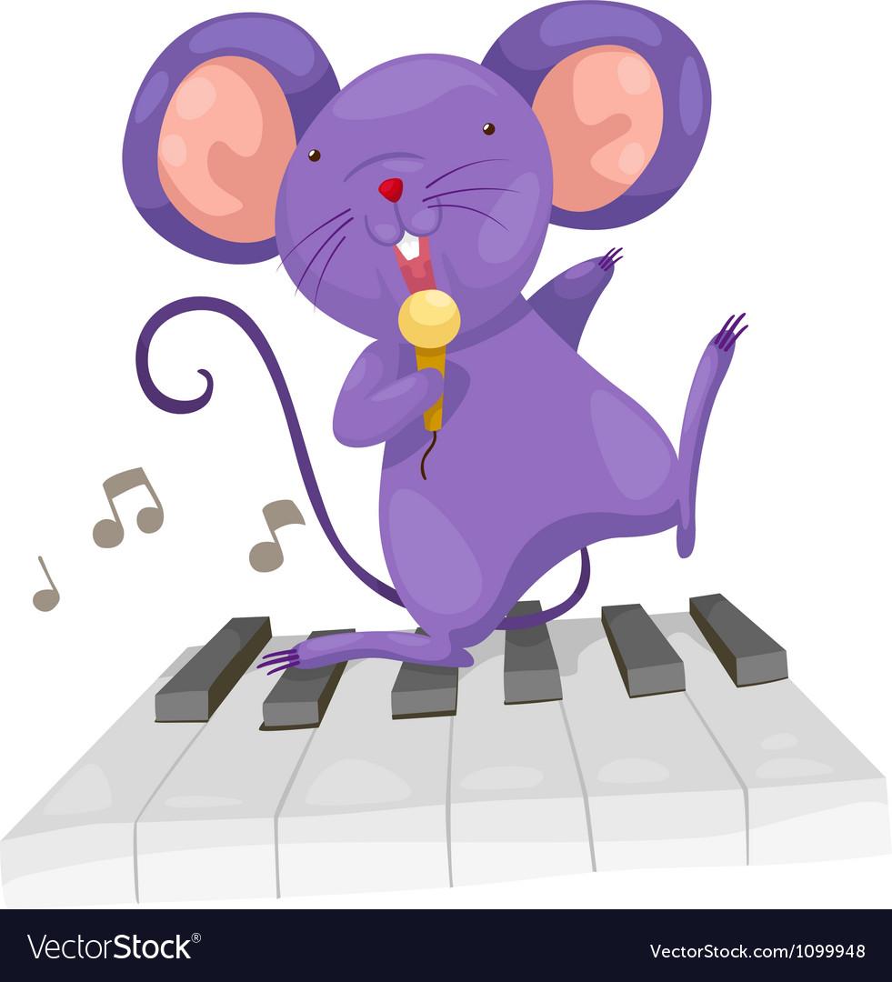 Rat sing vector image