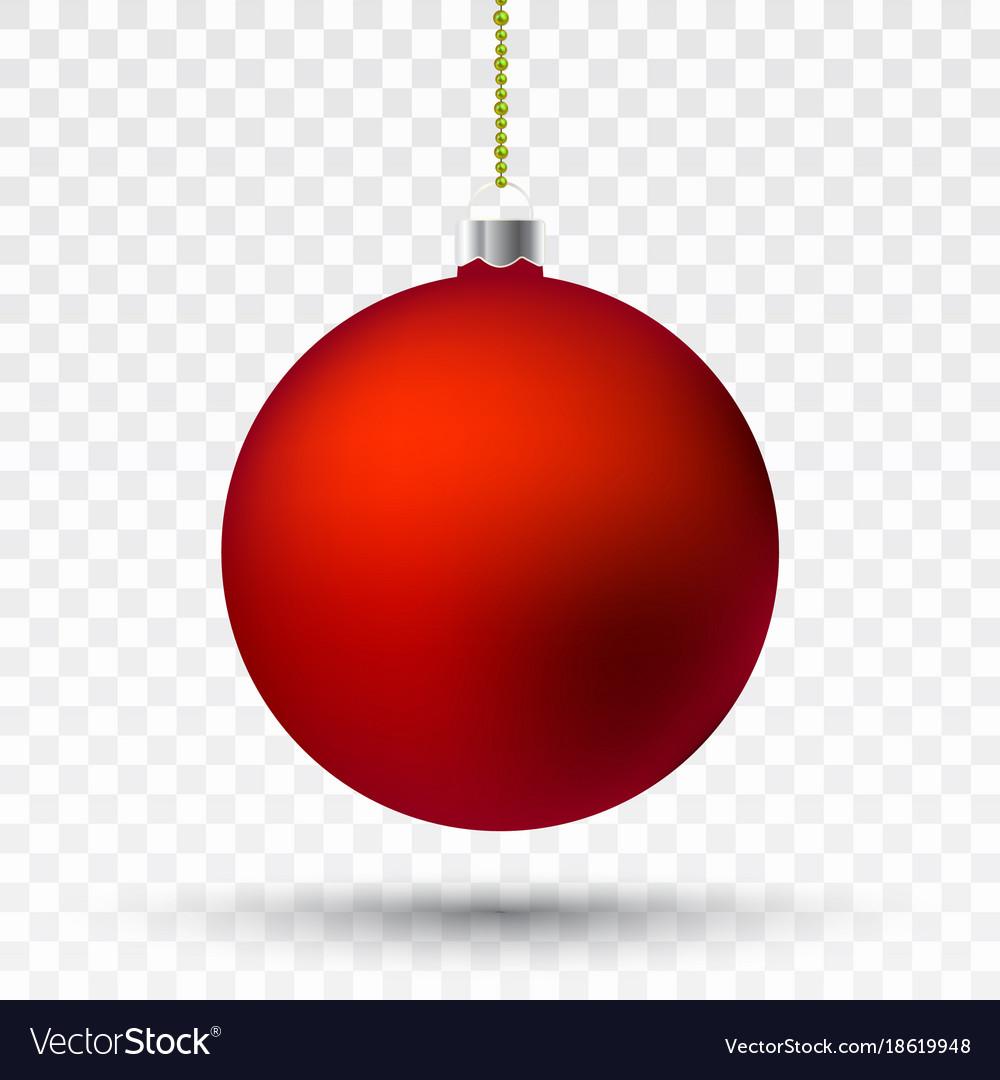 Red transparent christmas ball