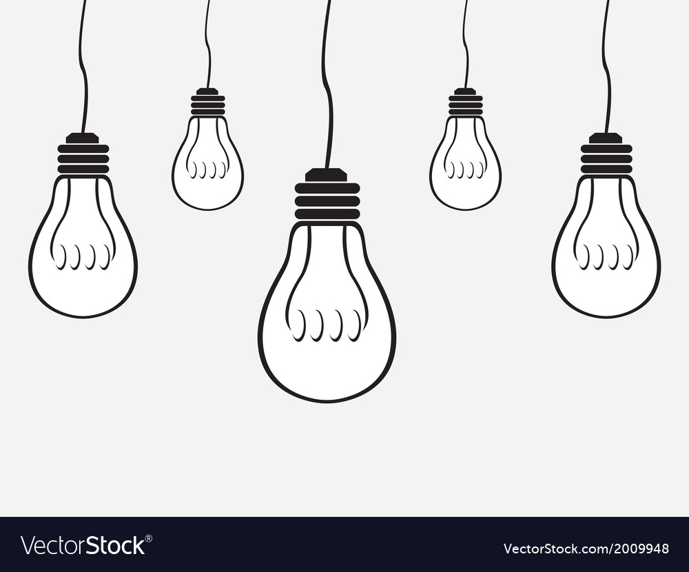 Simple bulb background
