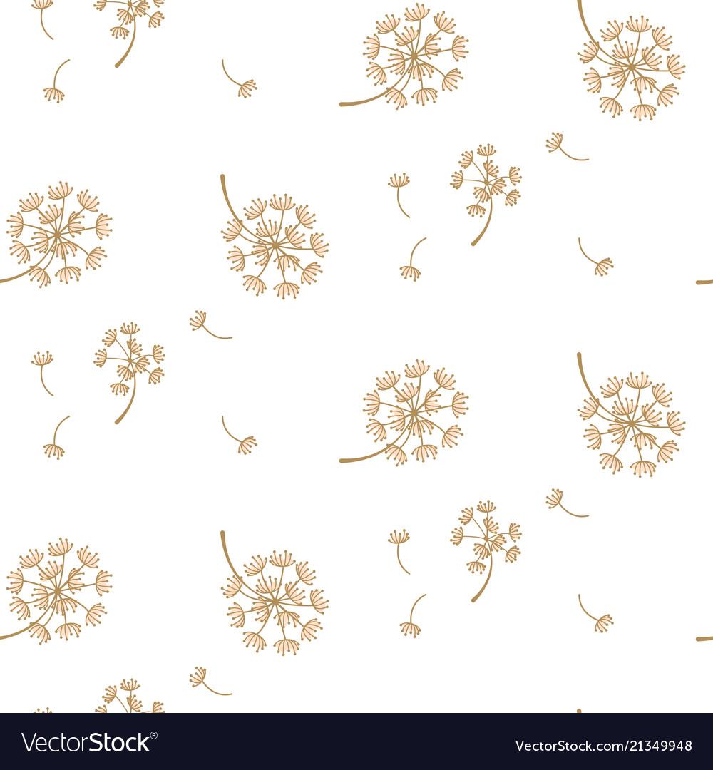 Simple dandelion flower pattern design