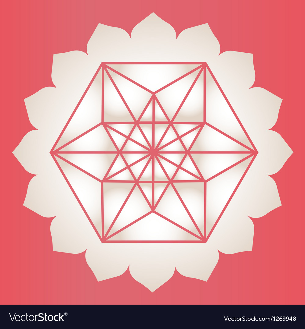 Star Tetrahedron stamp vector image