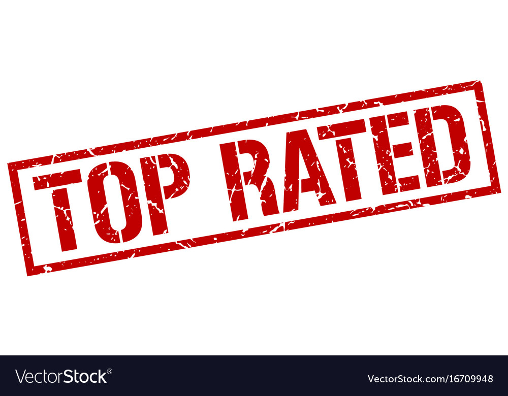 Top rated stamp vector image