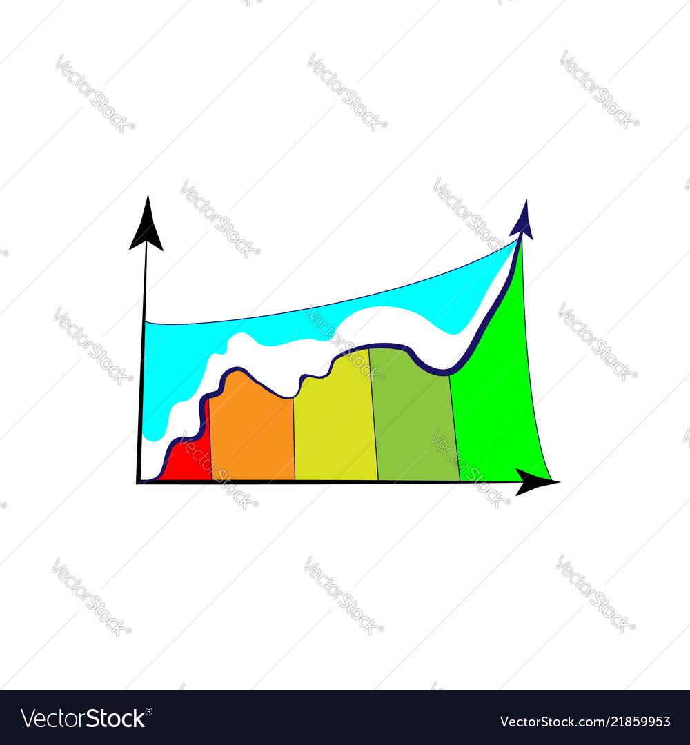 bar chart column graph chart template for vector image