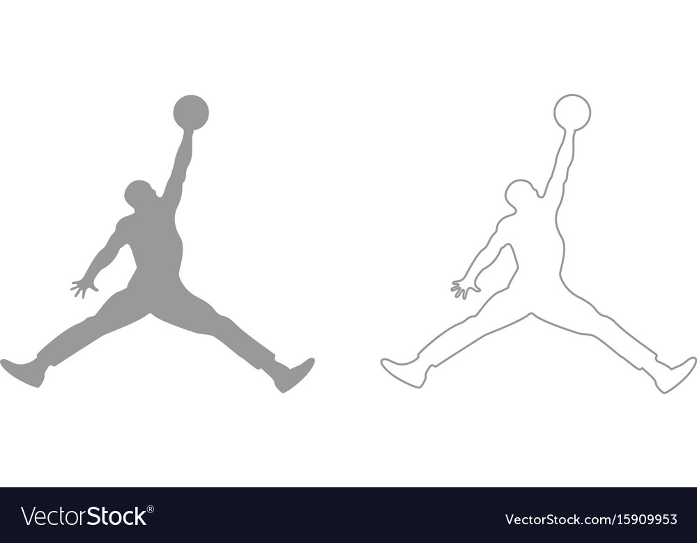 Basketball player set icon vector image