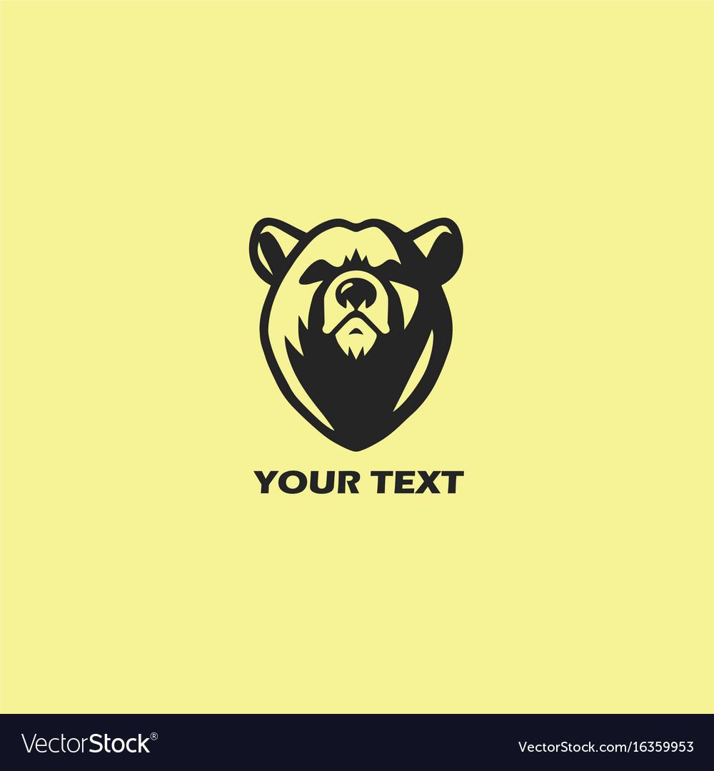 Bear logo template design