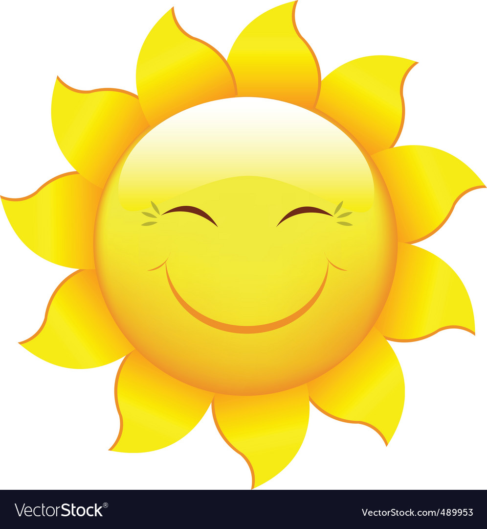 cartoon sun royalty free vector image vectorstock rh vectorstock com cartoon pictures of the sunshine cartoon images of the sunshine