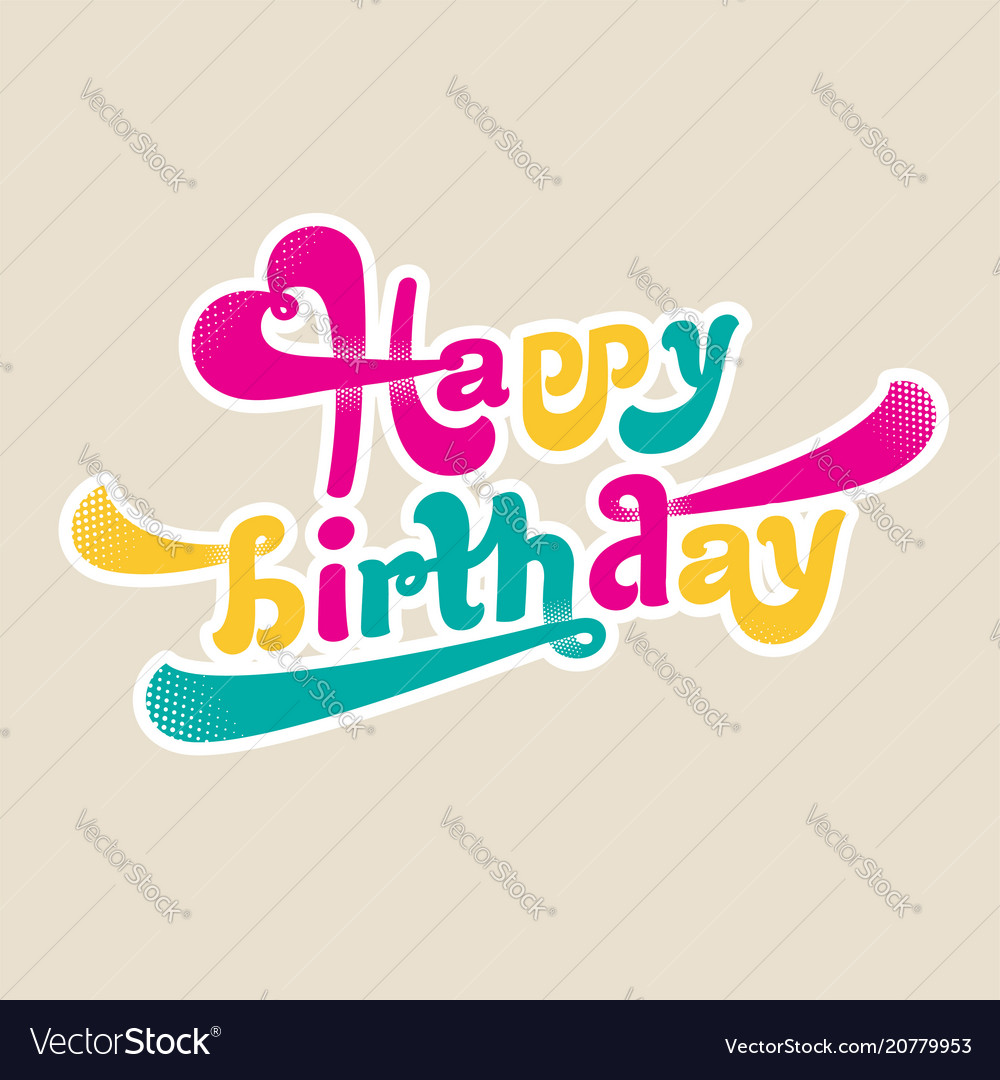 Happy birthday logo image vector image