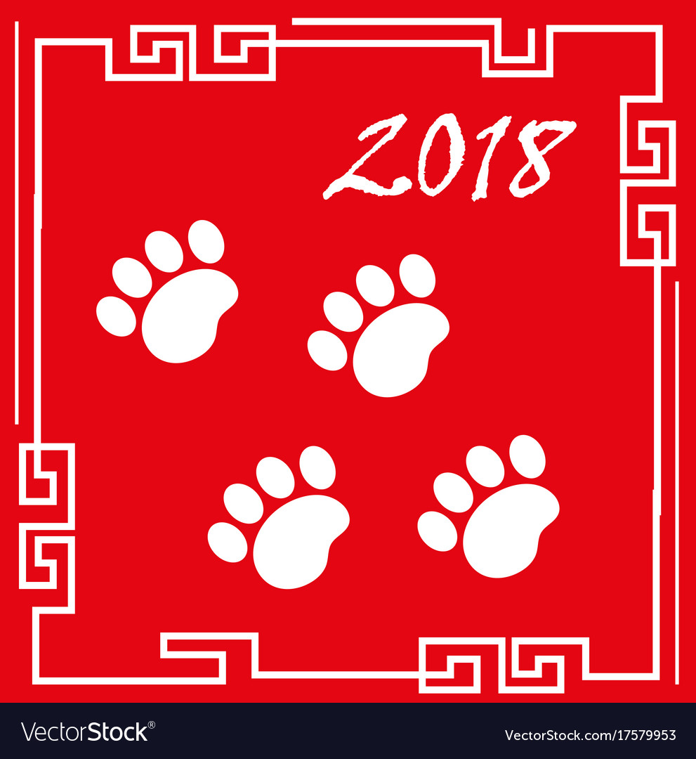 Happy chinese new year 2018 greeting card with