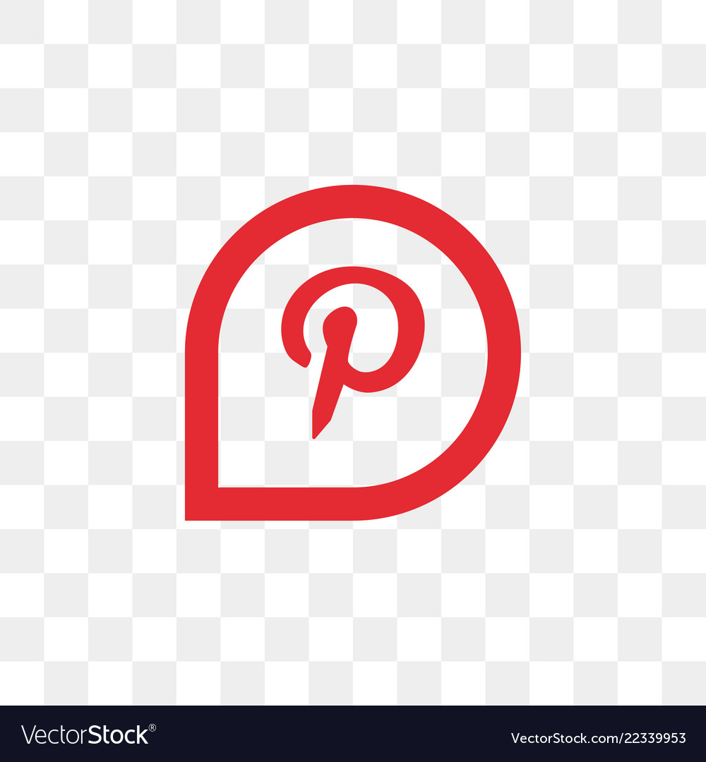 Pinterest social media icon design template