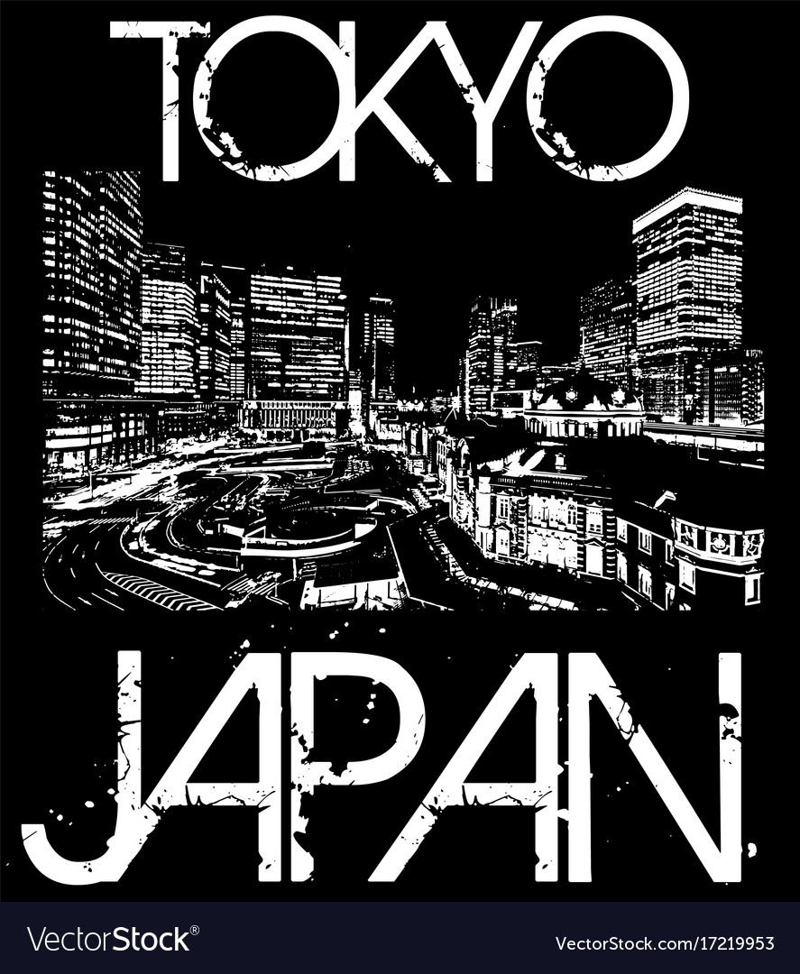 Tokyo japan typography t-shirt graphics vector image