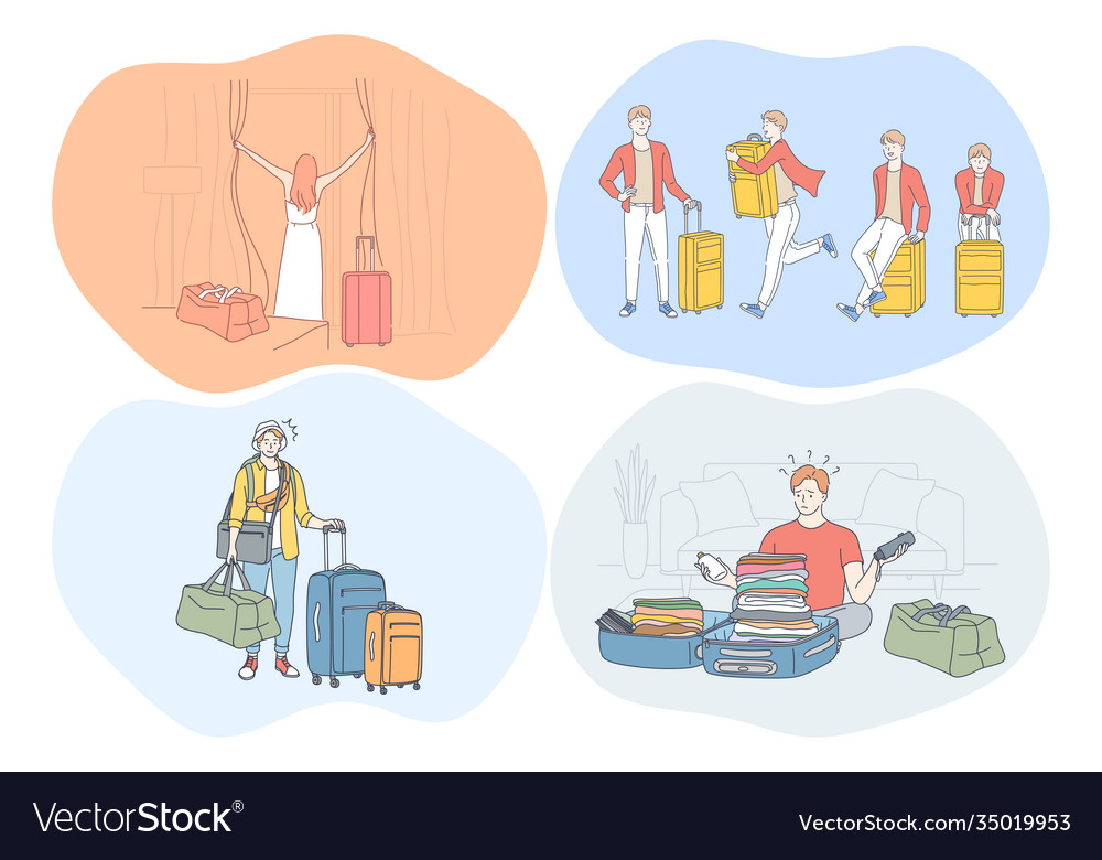 Travelling with luggage vacations and journey