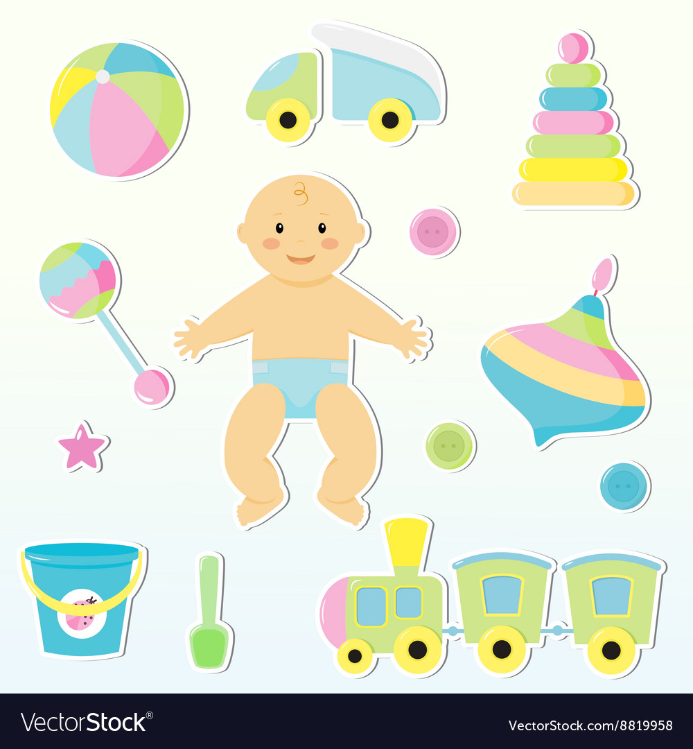 Baby toy vector image