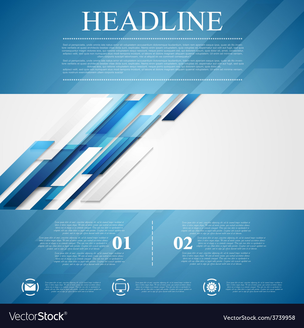 blue shiny hi tech flyer background royalty free vector