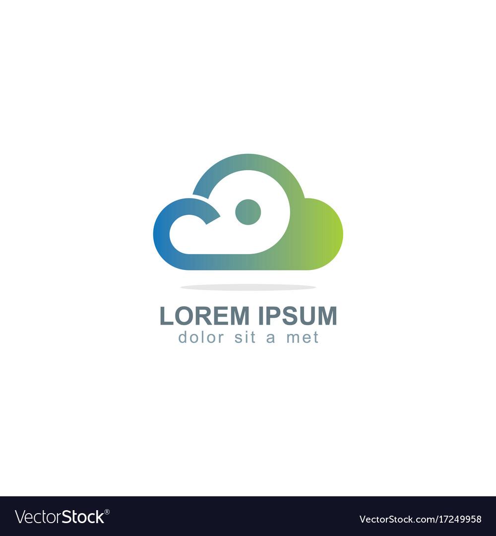 Cloud dot technology logo