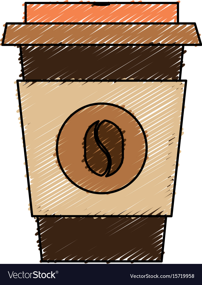 Coffee cup plastic isolated icon vector image