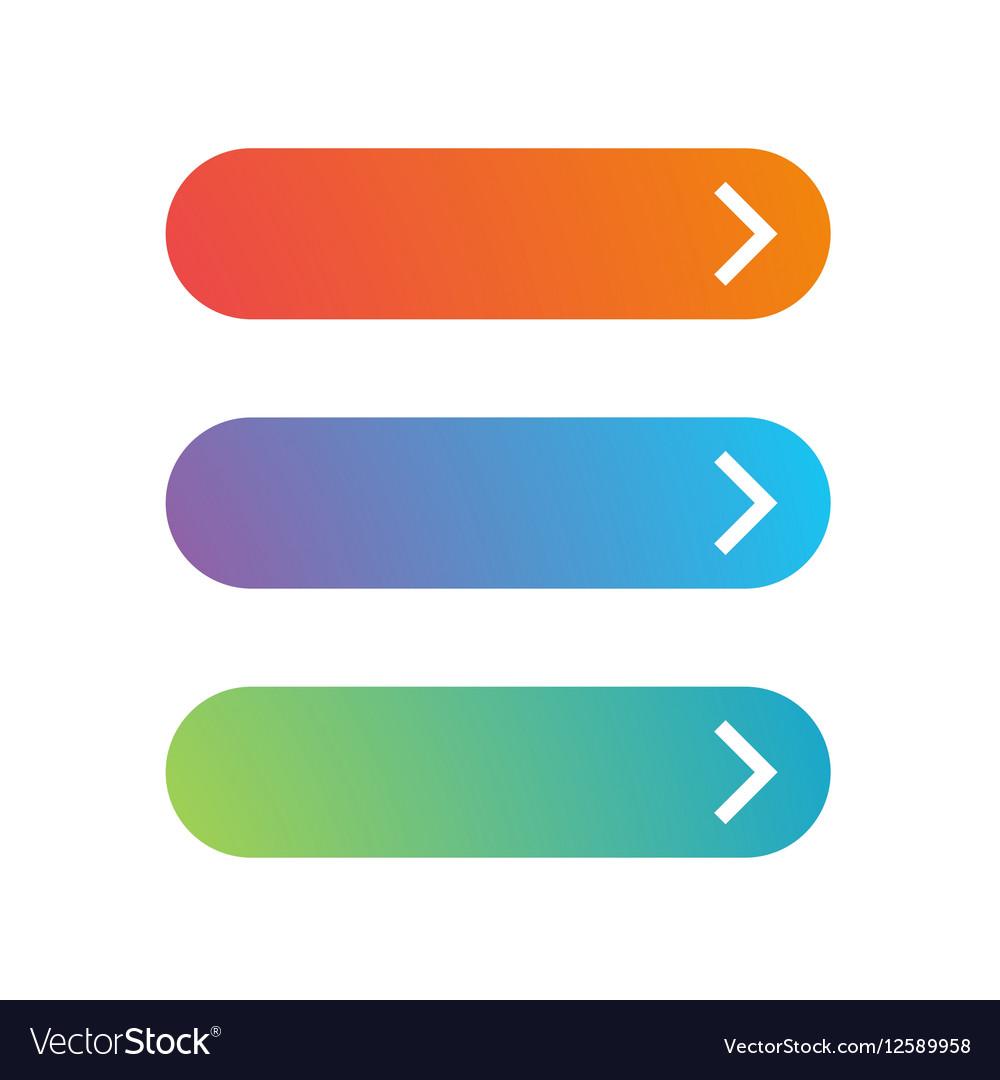 Empty web button set vector image