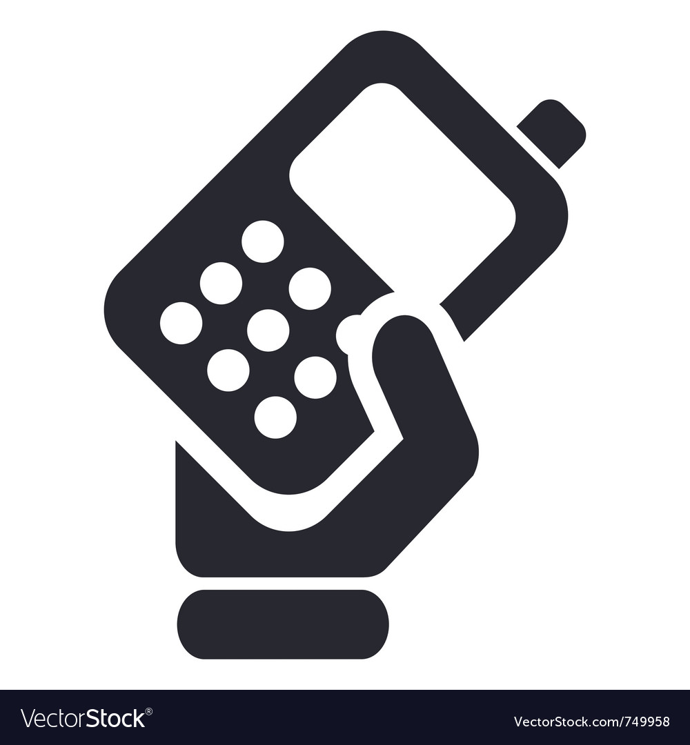 Phone handing icon vector image