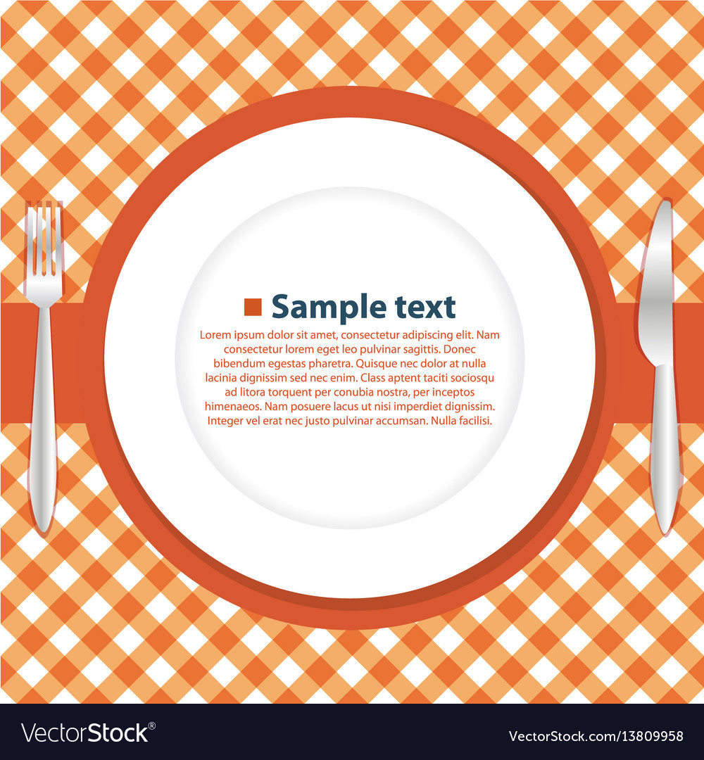 Plate on the tablecloth