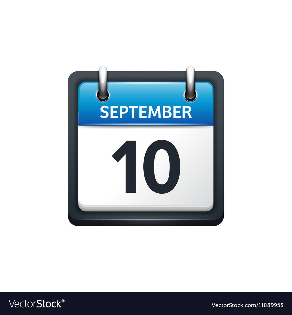 September 10 Calendar icon