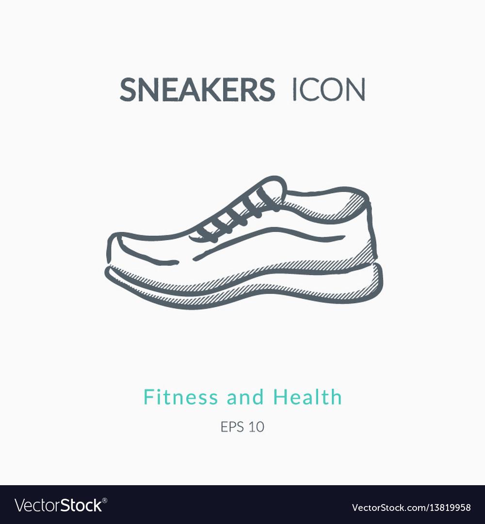 Sneakers icon on white background