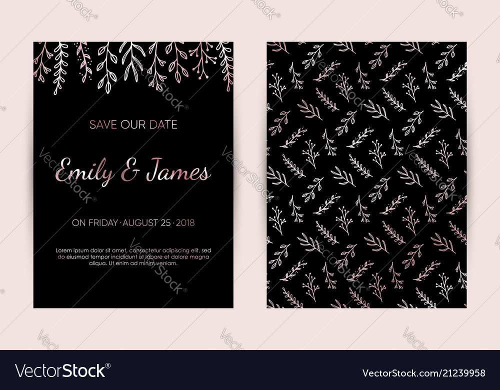 Modern Wedding Invitation Cards Template Vector 5