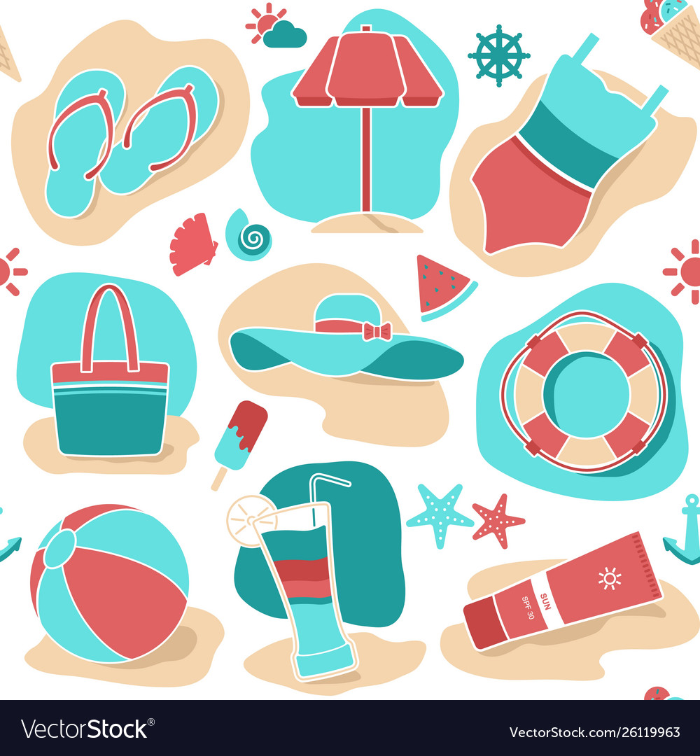 Abstract summer seamless background holiday