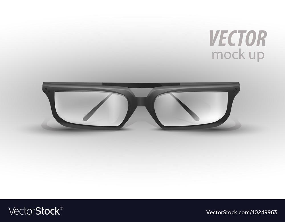 Black Eye Glasses Isolated on White vector image