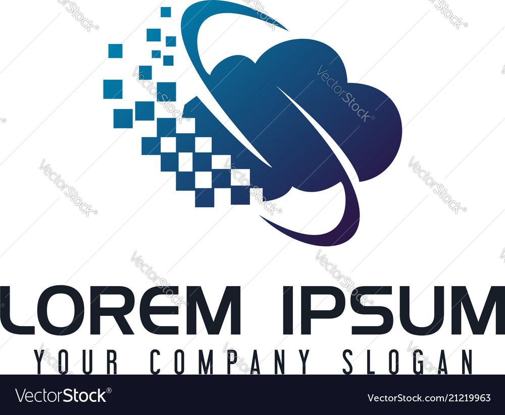 Communications internet cloud logo design concept
