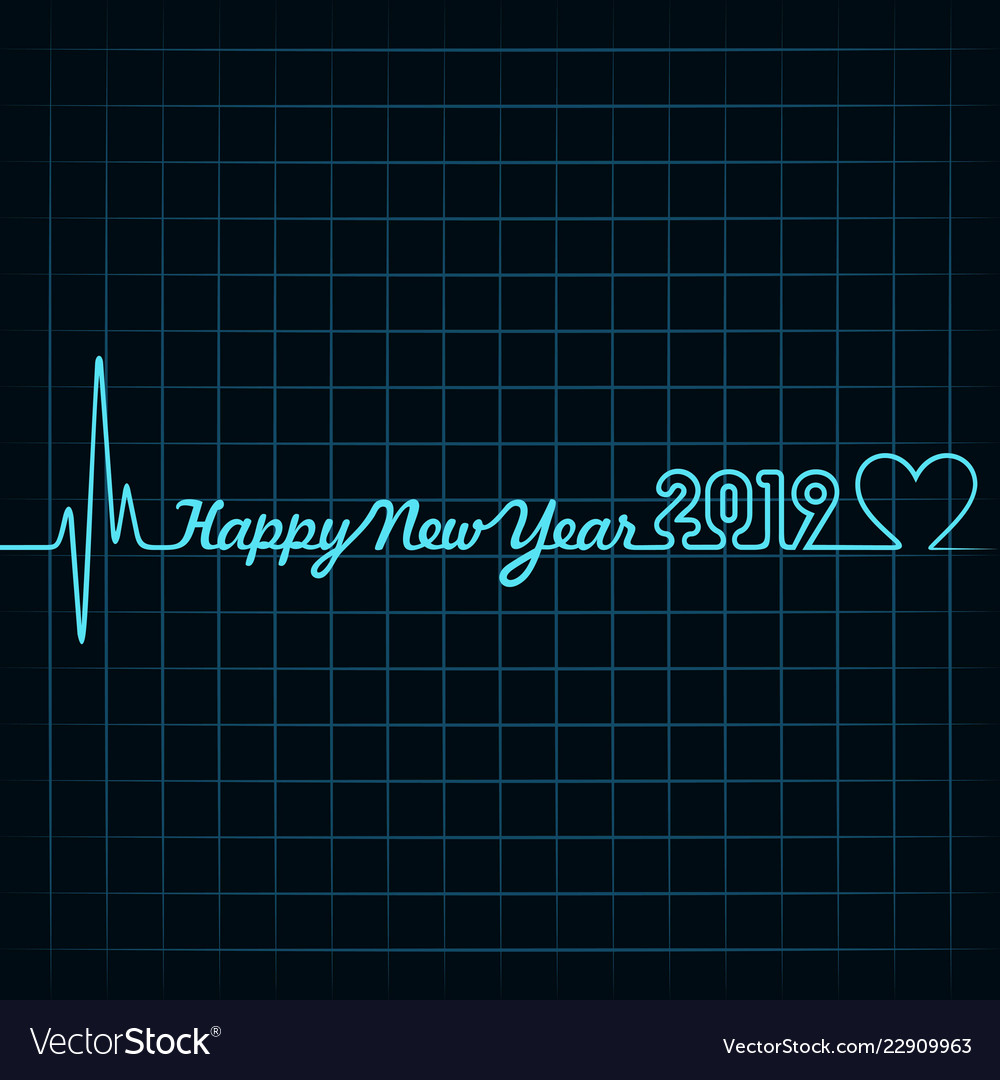 Happy new year 2019 with creative design stock