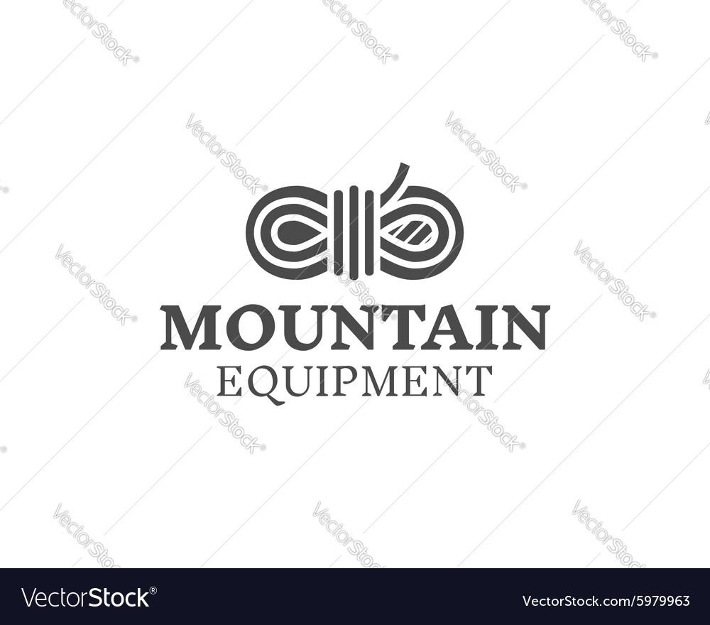 Mountain equipment badge outdoors logo emblem