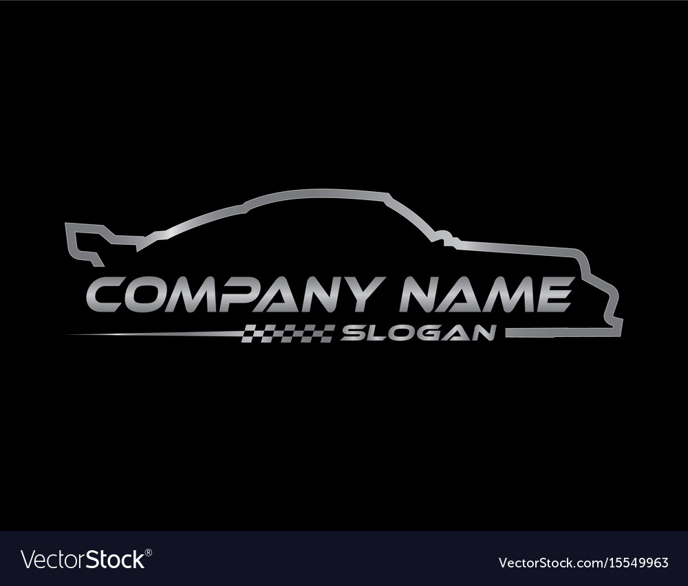 Racing car symbol black background