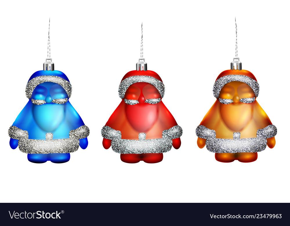 Santa - wonderful decorations on the tree isolated