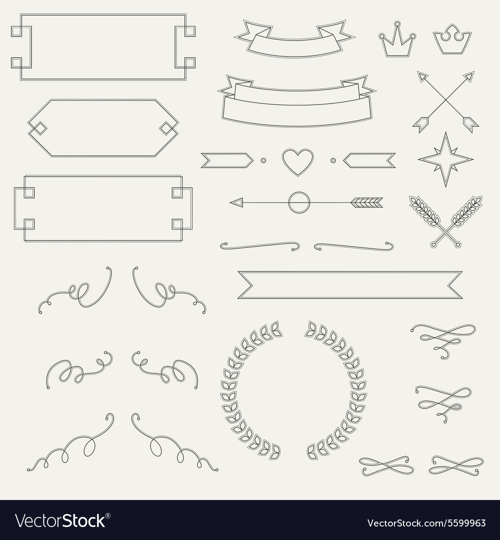 Set geometric elements info graphic labels
