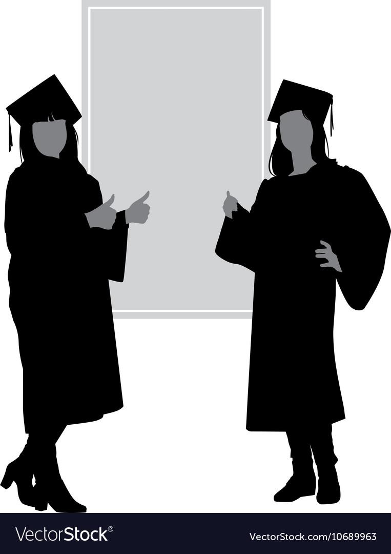 Silhouettes graduates