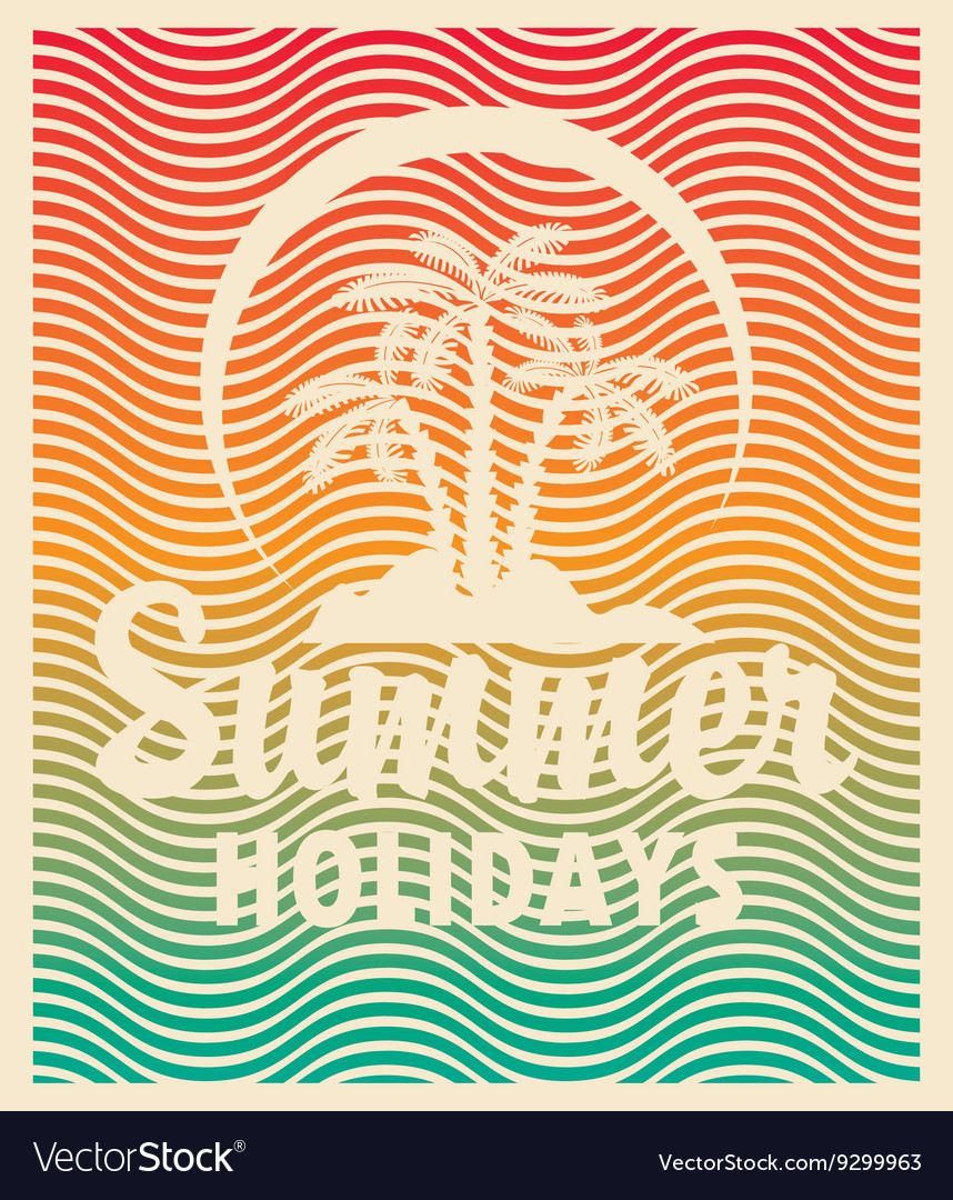 Tourism banner on a summer vacation
