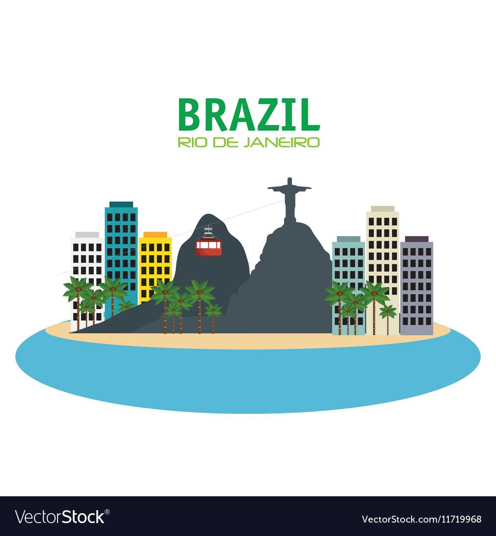 Brazil rio de janeiro touristics places design
