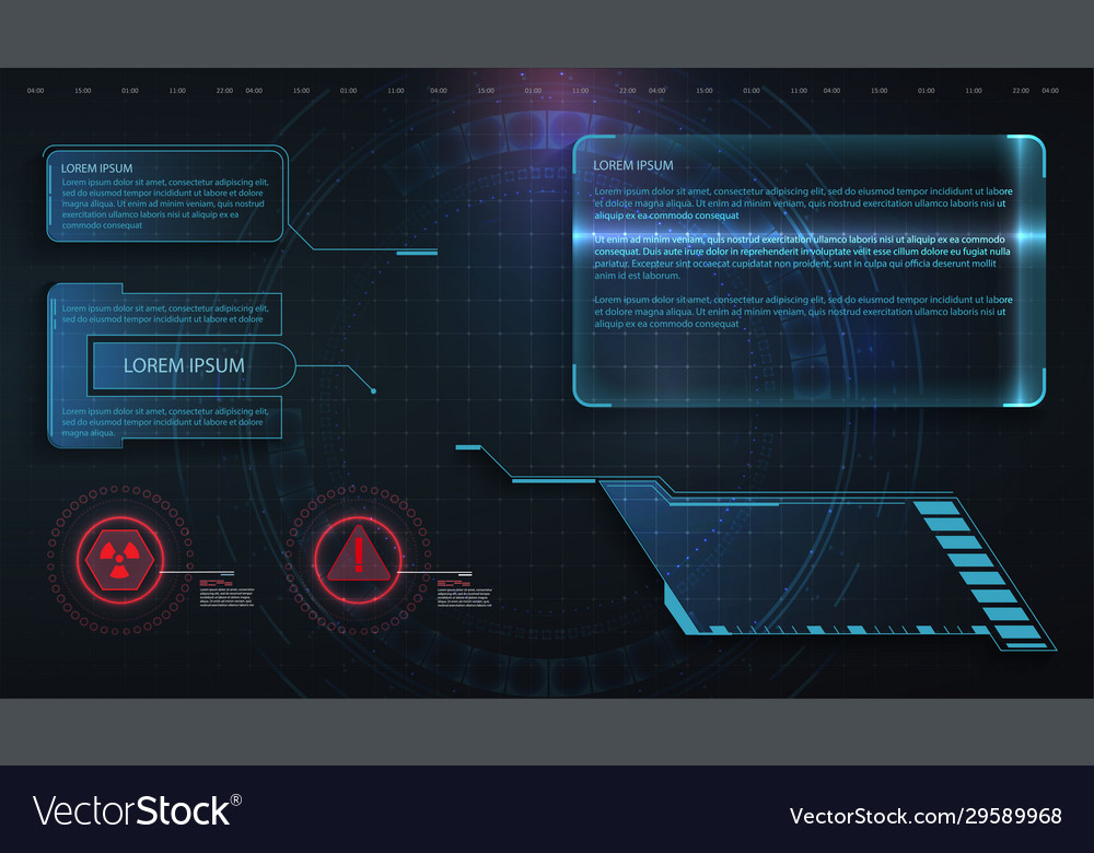 hud ui gui futuristic frame user interface vector image vectorstock