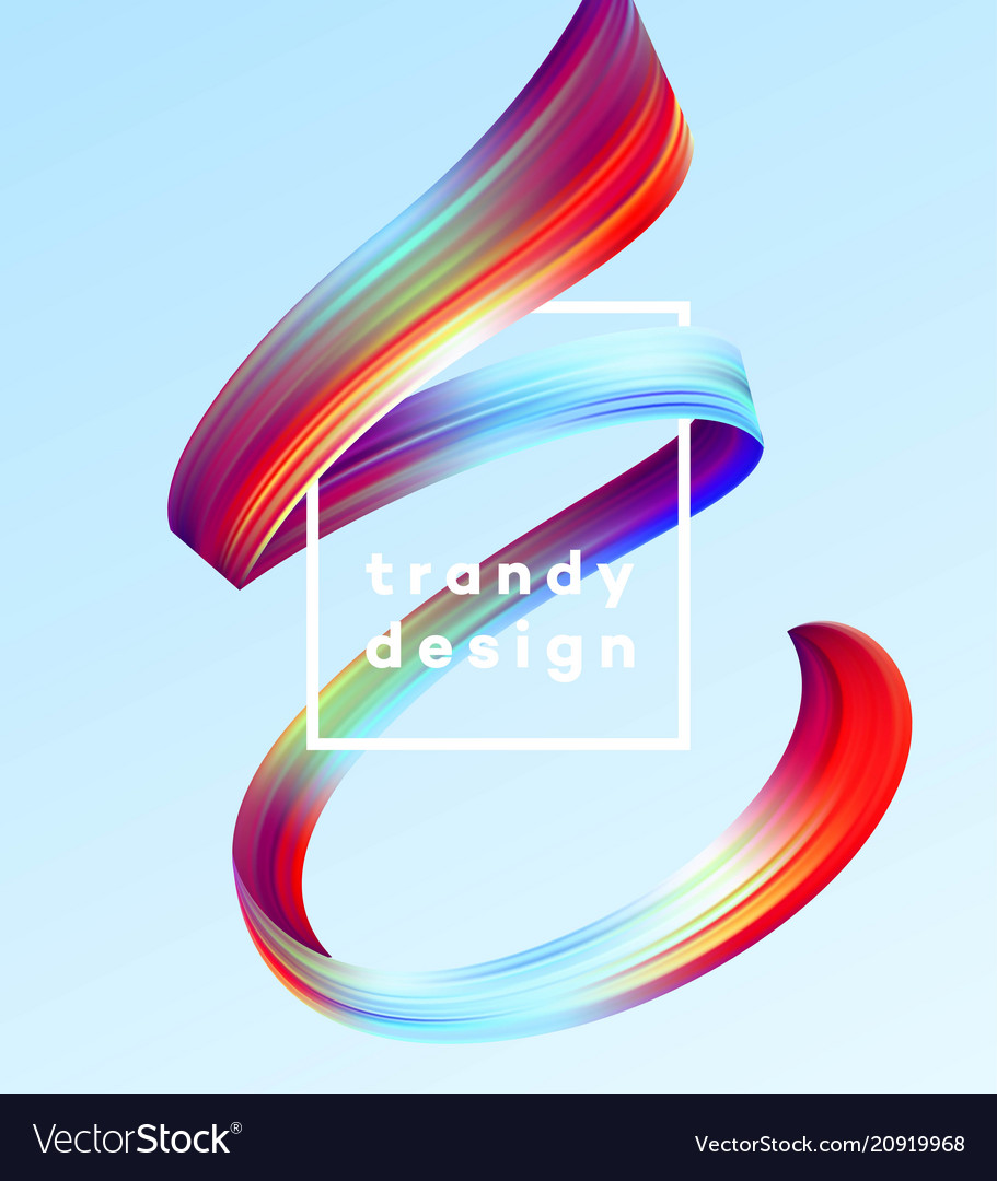 Modern colorful flow poster wave liquid shape in